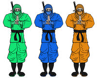 Group ninja Stock Photo