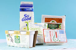 Group of non-dairy food products Royalty Free Stock Photo