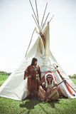 Group of North American Indians Royalty Free Stock Photography