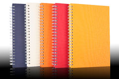 Group Of Note book. Multicolor Note Book Isolate On White Background Royalty Free Stock Photo