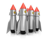 Group of nuclear missiles Stock Image