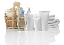 Group of objects for bathing Stock Photos