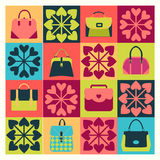 Group of Objects icons set of Fashion Bags Stock Photography