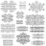 Group objects, ornaments and beautiful frames in ethnic style an Royalty Free Stock Images