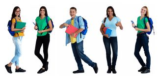 Free Group Of 5 International Male And Female Students Royalty Free Stock Photos - 146717908