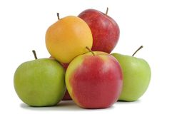 Free Group Of Apples Isolated Stock Photos - 13691373