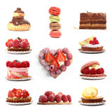 Group Of Berry And Chocolate Desserts Royalty Free Stock Photo