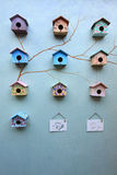 Group Of Bird House Royalty Free Stock Photography