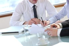 Group Of Business People At Meeting Stock Photography