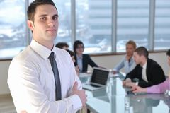 Group Of Business People At Meeting Royalty Free Stock Images