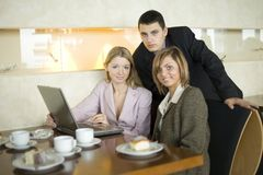 Group Of Business People At The Table Stock Images