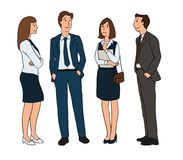 Free Group Of Business People Standing And Talking On A White Background. Isolated Illustration Artwork Cartoon Design Character Royalty Free Stock Image - 112086966