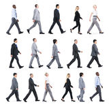 Group Of Business People Walking In One Direction Stock Images