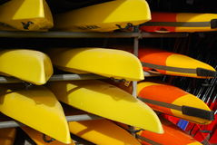 Free Group Of Canoes Royalty Free Stock Image - 9510706