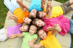 Free Group Of Children In The Park Royalty Free Stock Photography - 20911597