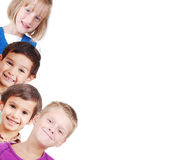 Group Of Children Isolated, Closeup, Space For You Royalty Free Stock Photos