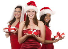 Group Of Christmas Women Stock Photos
