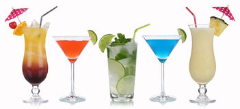 Group Of Cocktails Stock Photos