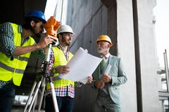 Free Group Of Construction Engineer Working In Construction Site Stock Images - 160024384