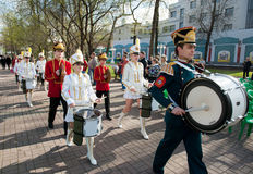 Group Of Drummers Performs Royalty Free Stock Photo