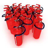 Group Of Fire Extinguishers Royalty Free Stock Photo