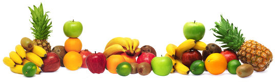 Group Of Fresh Fruits Stock Photography