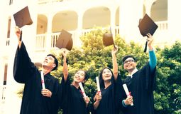 Free Group Of Graduate Students Stock Photo - 105985900