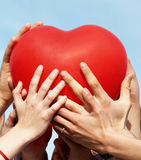 Group Of Hands Holding Heart Royalty Free Stock Image