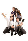 Group Of Happy Music Band Making Funny Faces Royalty Free Stock Image
