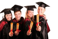 Free Group Of Happy Students Stock Photo - 15655890
