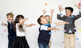 Free Group Of Kids Party Event Festive Celebration Stock Images - 89036044