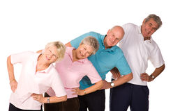 Group Of Mature People Stretching Royalty Free Stock Photo