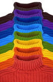 Group Of Multi Color Rainbow Sweaters Collage Stock Photos