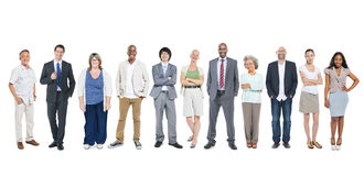 Free Group Of Multiethnic Diverse Business People Stock Image - 39852381
