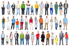 Group Of Multiethnic Diverse Mixed Occupation People Royalty Free Stock Images