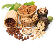 Group Of Nuts Stock Photos