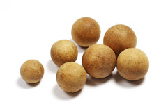 Group Of Old Wooden Balls Stock Photography