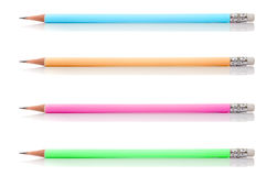 Group Of Pastel Pencil Isolated On White Background Royalty Free Stock Photo