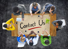 Free Group Of People Brainstorming About Contact Us Concepts Royalty Free Stock Images - 45719449