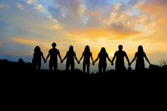 Free Group Of People Holding Hands Team Unity Royalty Free Stock Photos - 140795168