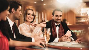 Group Of People In Casino Royalty Free Stock Photography
