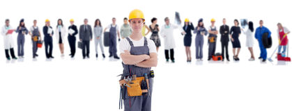 Group Of People In Front Mechanic Stock Photos