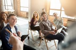 Free Group Of People Sitting At Seminar, Copy Space Royalty Free Stock Images - 123053829