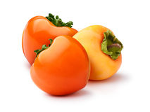 Group Of Persimmons Isolated Stock Photography