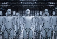 Free Group Of Robots Royalty Free Stock Photos - 121909908