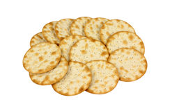 Group Of Round Thin Crackers Stock Photography