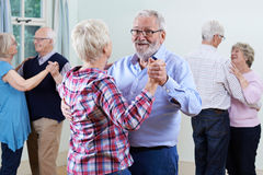 Free Group Of Seniors Enjoying Dancing Club Together Royalty Free Stock Image - 82945346