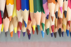 Free Group Of Sharp Colored Pencils Royalty Free Stock Image - 45698986