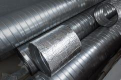 Free Group Of Shiny Metallic Tubes Stock Photos - 88346003