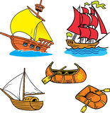 Group Of Small Ships Stock Images